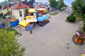 Zona costera. Cafe-bar Greenwich. Webcams Berdyansk en línea