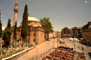 Mezquita Emir Sultán. Webcams Bursa